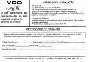 VDO PRESSÃO ÓLEO II