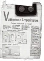 instalação amperímeto e voltímetro